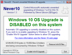 Verhindert das Windows 10 Update und löscht auf Wunsch die Installationsfiles